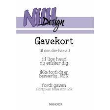 """NHHC029 NHH Design Stempel, """"Gavekort""""-0"""