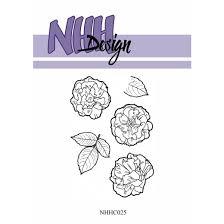 NHHC025 NHH Design Stempel, Flower-3-0