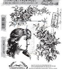 CMS255 Stampers Anonymous Tim Holtz Lady Rose-0