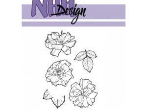 NHHC027 NHH Design Stempel, Flower-5-0