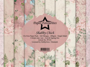 PF101 Paper Favourites, Papirsblok 15x15, Shabby Chich-0