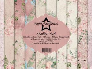 PF301 Paper Favourites, Papirsblok 30x30, Shabby Chich-0