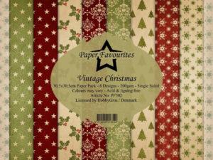 PF302 Paper Favourites, Papirsblok 30x30, Vintage Christmas-0
