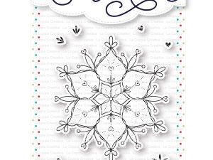 TU322 La Coppia Creativa Stempel, Snefnug-0