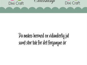 """Stampl096 Dixi Craft Clearstamp, Dansk tekst """"Du Ønskes Hermed ...""""-0"""