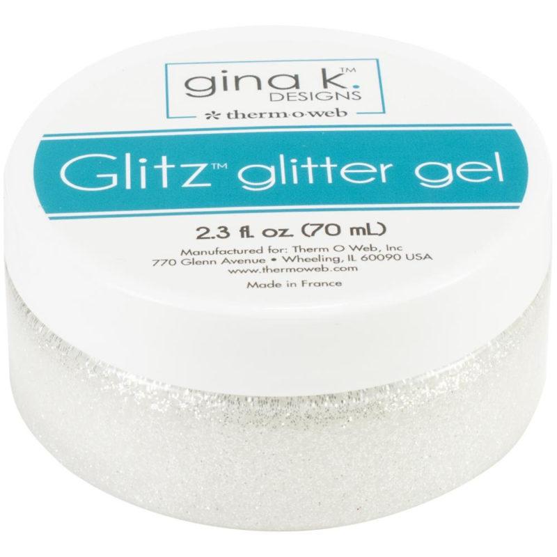 18131 Gina K Designs Glitz Glitter Gel, Hvid-0