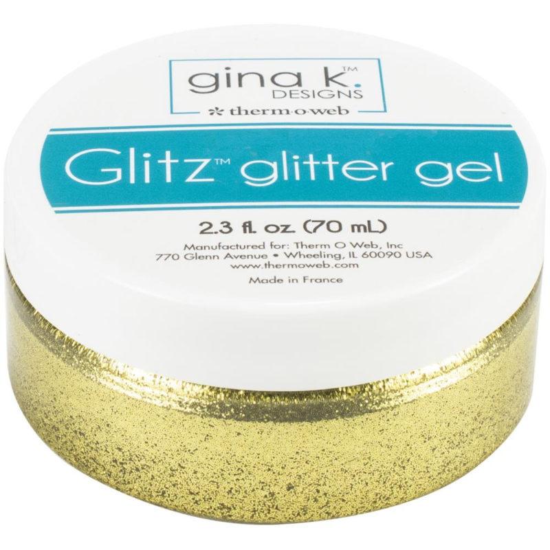 18133 Gina K Designs Glitz Glitter Gel, Guld-0