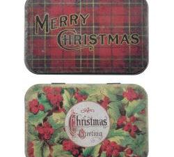TH94005 Tim Holtz Idea-ology Trinket Tins, Christmas Nöel-0