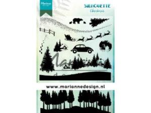 CS1040 Marianne Design Stempel Silhouette Christmas-0