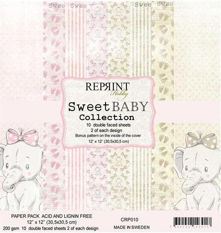 CRP010 Reprint Papir 30x30, Sweet Baby Collection -0