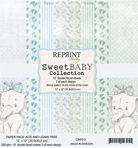 CRP011 Reprint Papir 30x30, Sweet Baby Collection -0
