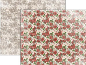 RP0295 Reprint Designpaper 30x30, Christmas Time - Poinsettia-0