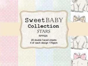 RPP026 Reprint papir 15x15, Sweet Baby Collection Stars-0