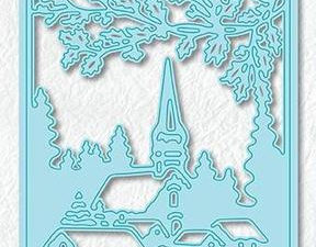 CRSD005 Nellie Snellen, Christmas Scene Dies - Snowy Village-0