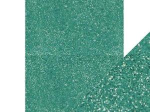 9954E Tonic Studios Craft perfect Glitter Card A4 Turquoise Lake-0