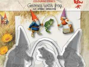 6002/1368 JOY Die Colouring Stencil Gnomes With Frog-0