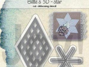 6002/1391 JOY Die Cut/Debossing, Billie's 3D Star-0