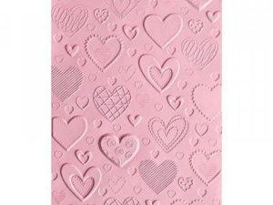 663628 Sizzix Tim Holtz Embossingfolder A6 3D Textures Impressions Hearts-0