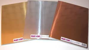 51954 PlayCut Metalkarton A4, Guld-0
