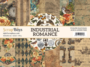 INRO-08 ScrapBoys Papers 30x30 Industrial Romance 08-0