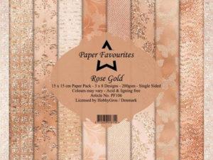 PF106 Paper Favourites, Papirsblok 15x15, Rose Gold-0