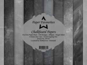 PF107 Paper Favourites, Papirsblok 15x15, Chalkboard Papers-0