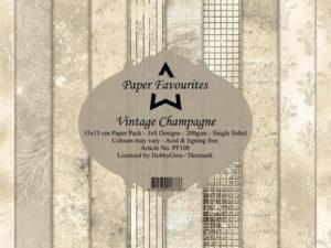 PF108 Paper Favourites, Papirsblok 15x15, Vintage Champagne-0