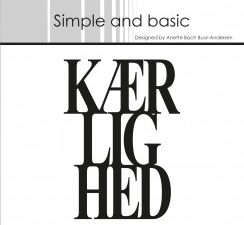 SBD016 Simple and Basic die, Kærlighed-0