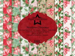 PF111 Paper Favourites, Papirsblok 15x15, Mistletoe Christmas-0