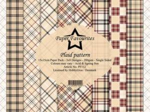 PF112 Paper Favourites, Papirsblok 15x15, Plaid Pattern-0