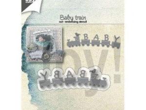 6002/1407 JOY Die Cut/emb., Baby Train-0