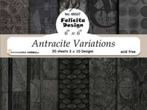 69337 Felicita Design papirsblok 15 x 15 cm Antracite Variations-0