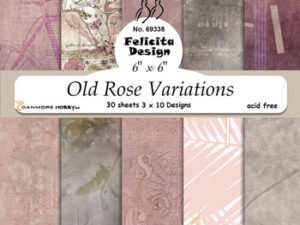 69338 Felicita Design papirsblok 15 x 15 cm Old Rose Variations-0