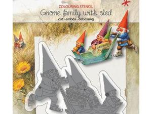 6002/1369 JOY Die Cut/Debossing, Gnome family on sled-0