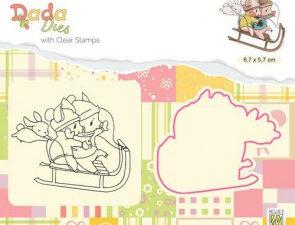 DDCS017 Nellie Snellen Die/Clearstamp Dada Sledging-0