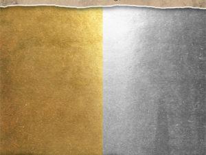 TH93586 Tim Holtz idea-ology Paper Kraft Stocks, Metallic Gold & Silver-0