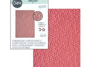 662825 Sizzix Courtney Chilson Embossingfolder A6 3D Textures Impressions Cobblestone-0