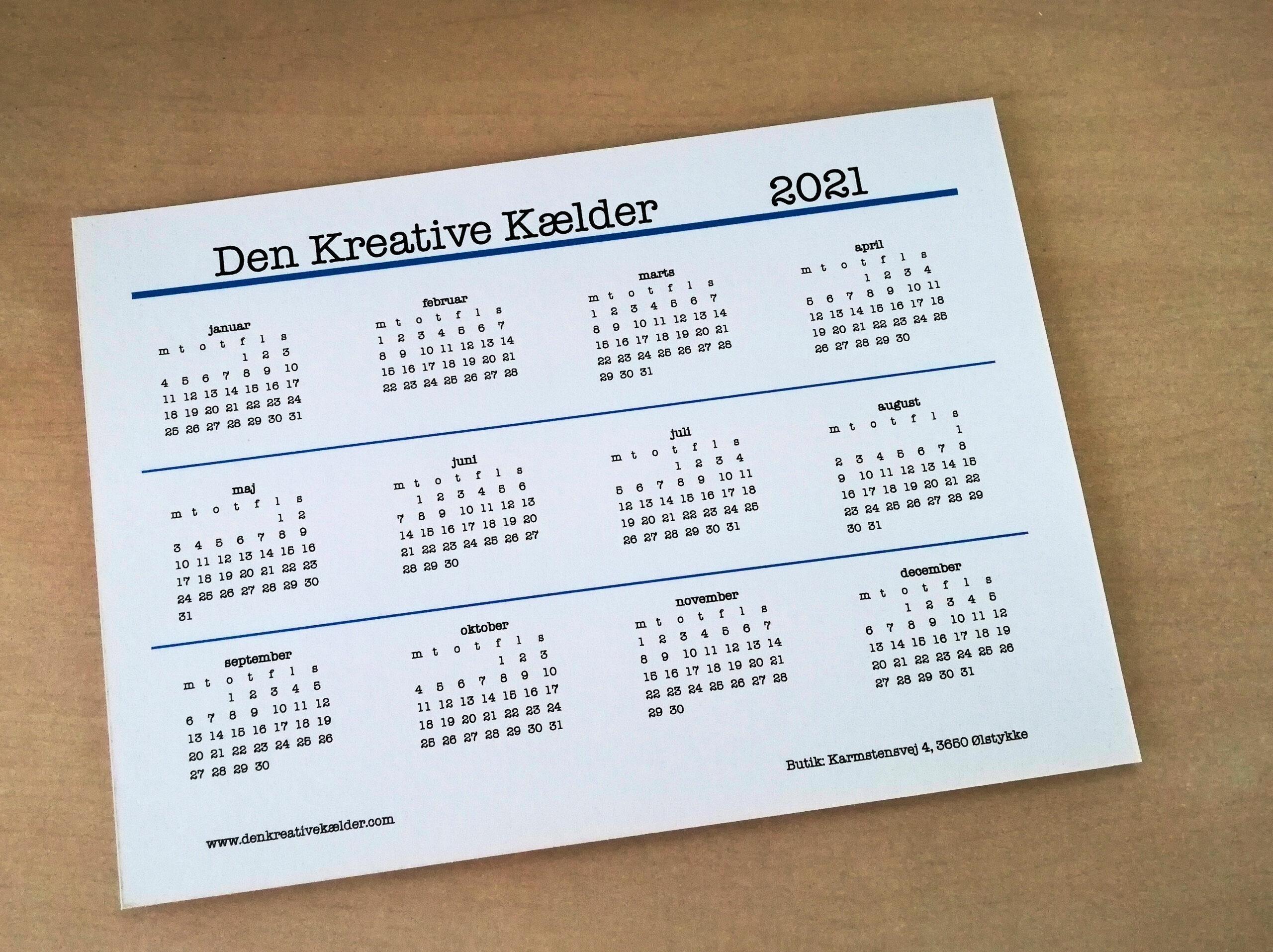 Print selv din kalender