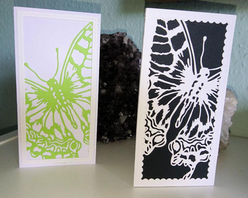 Enkle kort med den fantastiske sommerfugl fra Tim Holtz